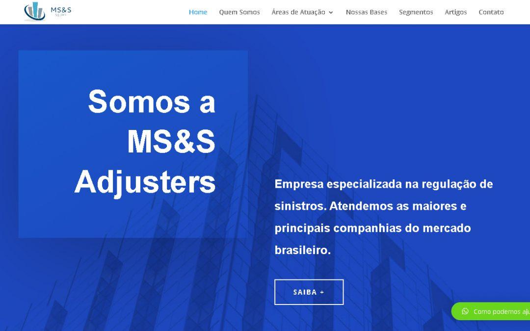 Novo Site da MS&S Adjusters no ar.